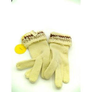 Vintage Christian Dior Knitted Gloves, Ladies Cuff
